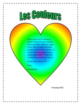 Les Couleurs-teach the colours in french