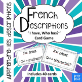 French, Descriptions: I have Who has Cards