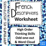 French, Descriptions: Worksheet
