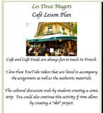 Les Deux Magots Café Lesson with Comic Activity