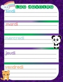Les Devoirs/ French Homework Board