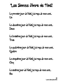 Les Douze Jours de Noel Poem