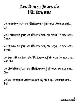Les Douze Jours de l'Halloween Poem