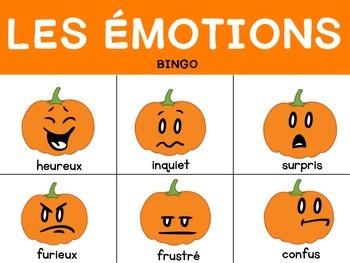 Les Émotions Bingo