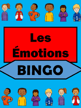 Les Émotions Bingo -Emotions Vocabulary in French