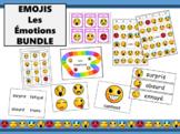 Les Émotions Emoji BUNDLE - French Emotions Vocabulary