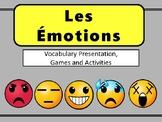 Les Émotions Emojis Vocab Presentation, Games and Workshee