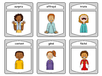 Les Émotions Spoons Card Game - Emotions Vocabulary in French