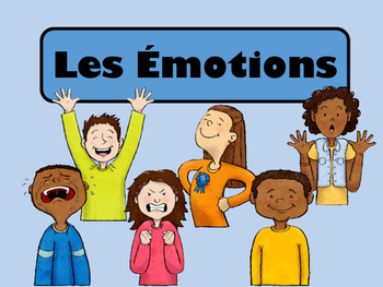 Les Émotions Vocabulary Presentation, Games and Worksheets-French Emotions Vocab