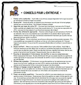 """Les Entrevues (""""Interviews""""): Guide et Questions"""