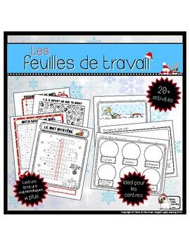 Les Feuilles de travail de Noël  (Christmas Activities and Worksheets)