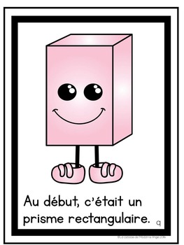 Les figures géométriques:  A French Emergent Reader featuring 3D solids