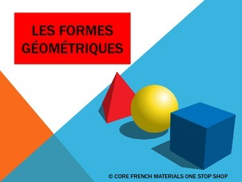 Les Formes Geographiques (Shapes in French) Flashcards