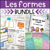 Les formes géométriques:  French 2D Geometry Math Bundle