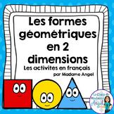 Les formes géométriques - 2D Shape Geometry Centers for Primary French Immersion