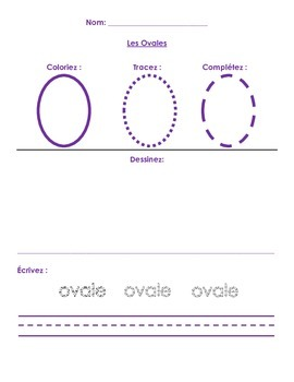 Les Formes/ Shapes (French Activity, Assessment & Worksheet)