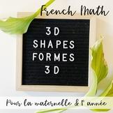 Les Formes en Trois Dimensions (FRENCH 3D SHAPES)