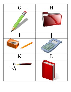 """Les Fournitures Scolaires - French School Supplies """"Scavenger Hunt"""""""