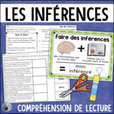 Les Inférences compréhension de lecture FRENCH Making Infe