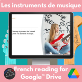 Les Instruments de Musique - Google Drive French reading activity