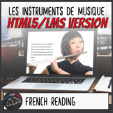 Les Instruments de Musique - HTML5/LMS French reading activity