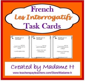 Les InterrogatifsTask Cards