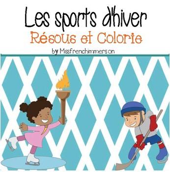 Sports d'hiver - Résous et Colorie