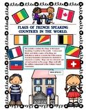 Les Jeux Olympiques hiver et été Flags of French speaking
