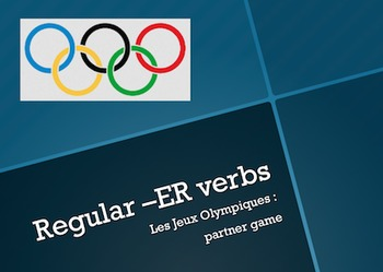 Les Jeux Olympiques : partner game with -ER verbs