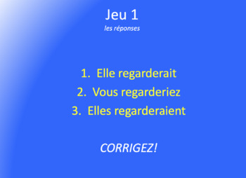 Les Jeux Olympiques : partner game with the Conditionnel