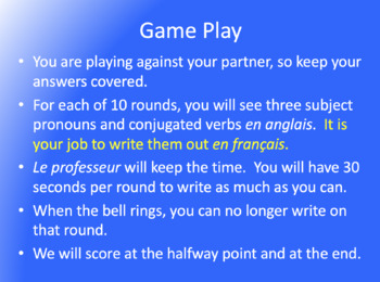 Les Jeux Olympiques : partner game with the Conditionnal Passé