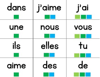 Les Jeux - les mots frèquents - FRENCH Sight Word Game