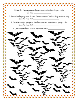Les Mathés d'Halloween!: French Math Halloween  Activity Pack