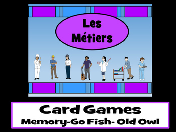 Les Métiers - Card Games - Jobs Vocabulary in French