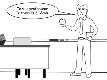 Les Métiers Emergent Reader/Coloring Book-Jobs Vocabulary in French