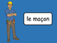 Les Métiers Vocab Presentation, Games, Worksheets and Reader – French Jobs Vocab