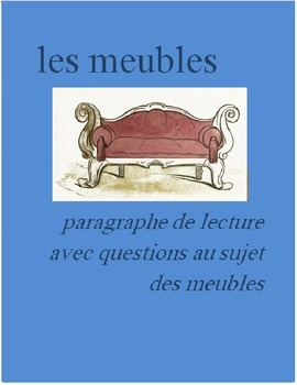 Les Meubles FRENCH Reading on furniture