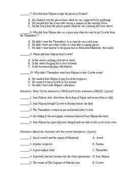 Les Miserables (Adapted Quizzes)