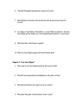 Les Miserables (Adapted Study Guide)