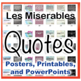 Les Miserables Novel Quotes Posters and Powerpoints