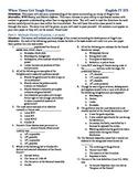 Les Miserables Unit Exam