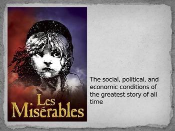 Les Miserables - social, economic, political discussion powerpoint