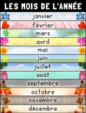 Les Mois de L'Année (Months of the Year) Poster – French