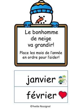 Les Mois de l'année (atelier, ressource en français, French immersion, gratuit))