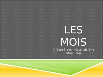 Les Mois/The Months French Vocabulary Flashcards