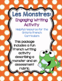 Les Monstres: French Monster Writing Activity