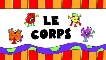 Les Monstres – The Body in French Vocabulary Presentation