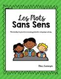 FRENCH - Les Mots Sans Sens (Conscience Phonologique)