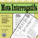 Les Mots Interrogatifs/ French interrogative words Discussion Prompts