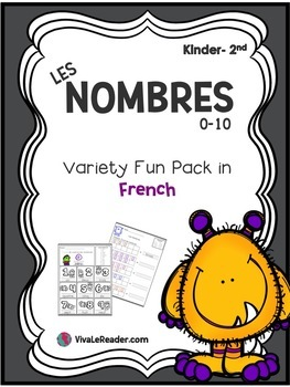 Les Nombres 0-10 for K-2nd/ Numbers 0-10 in French
